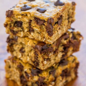 Banana Oatmeal Chocolate Chip Cookie Bars
